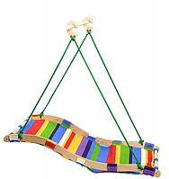 Детская качеля - гамак, подвесная разноцветная, шир. 60 см