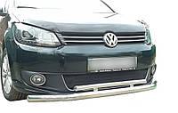 Защита переднего бампера (двойной ус 60\48мм) Volkswagen Caddy 2004-2010 г.в.