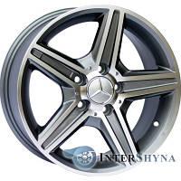 Replica Mercedes (CT1402) 8.5x18 5x112 ET45 DIA66.6 Gun metal full polish (Темно-серый с полированным ободом)