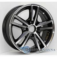 Литые диски Sportmax Racing SR-236 5.5x13 4x100 ET35 DIA67.1 Black polished (Черный с полированной лицевой частью)