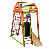 Детский спортивный комплекс-уголок для дома и квартиры, сетка, горка, кольца, рукоход 170х85х132 см BWP