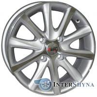 Литые диски Sportmax Racing SR-CT4346 6.5x15 4x100 ET45 DIA67.1 Silver Polished (Серебристый полированный)