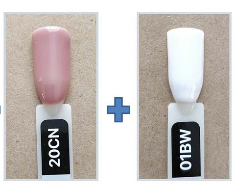 Набор гель лаков для Френча Kodi Professional, База и Топ(2 в 1)+ Гель 2