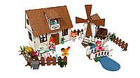 """Кукольный Домик для кукол ЛОЛ """"Сельский + мельница"""" с мебелью, текстилем и светом 30х19х26 см (2202)"""