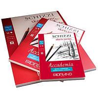 Альбом для графіки склейка Accademia А5 (14,8х21 см) 120 г/м.кв. 50 аркушів (FABRIANO Італія)