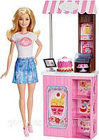 Кукольный набор игровой Кукла Барби Карьера Владелец пекарни - Barbie Careers Bakery Playset