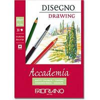 Альбом для вологих технік склейка Accademia А4 (21х29,7 см) 200 г/м.кв. 30 аркушів (FABRIANO Італія)