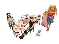 """Лялькова меблі ЕКО для ляльок у ляльковий будиночок - Набір """"Кухня"""" зі столом і стільцями з 8 предметів (3110)"""