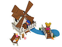 """Кукольная мебель, игровой набор """"Сказочная Мельница"""". Мебель для кукол до 20 см (1203)"""