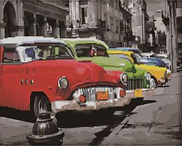 Алмазна картина-розмальовка Парад машин 40*50 см. Rainbow Art