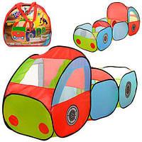 """Детская игровая палатка """"Машинка с прицепом"""" (Вход - накидка на липучках, 3 окна), размер 185-63-90 см арт. 3331"""