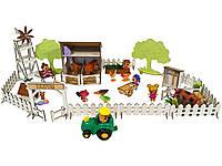 """Кукольная мебель, игровой набор """"Веселое Ранчо"""". Мебель для кукол до 20 см (1201)"""
