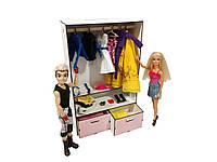 """Кукольная мебель ЭКО для кукол в кукольный домик - Набор """"Шкаф Малый"""" из 7 предметов (6101)"""