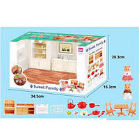 "Игрушечный набор ""Кухня"" с фигурками и аксессуарами Sweet family арт. 1603 F"