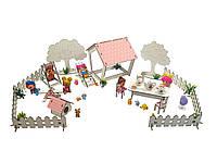 """Кукольная мебель, игровой набор """"Дворик с беседкой"""". Мебель для кукол до 20 см (1110)"""