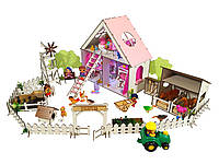 """Кукольный Домик для кукол ЛОЛ + ферма с мебелью, текстилем и обоями """"LITTLE FUN maxi"""" 40х20х40 см (2122)"""