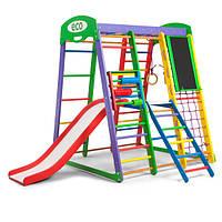 Детский спортивный комплекс-уголок для дома и квартиры, сетка, горка, кольца, рукоход 150х124х132 см АP 3