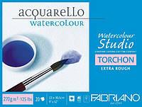 Альбом для акварелі Watercolour Studio Torchon 18х24 см 270 г/м.кв. 20 аркушів склейка з 4 сторін (F