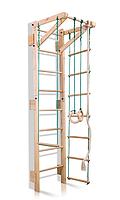 Детская шведская спортивная стенка, спортивный комплекс уголок, турник, кольца, лестница 220х55 см TS 2-220