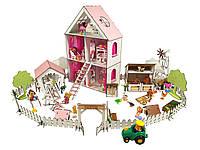 """Кукольный Домик для кукол ЛОЛ + ферма + дворик с мебелью и текстилем """"LITTLE FUN maxi"""" 40х20х62 см (2125)"""