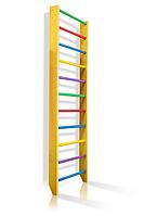 Деревянная Спортивная Шведская стенка для дома для детей, взрослых до 120кг - 80х220см разноцветный