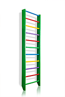 Деревянная Спортивная Шведская стенка для дома для детей, взрослых до 120кг - 80х240см разноцветный