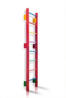 Деревянная Спортивная Шведская стенка для детей и подростков до 80кг - разноцветная, 55х220см T0-220-barby