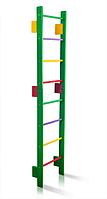 Деревянная Спортивная Шведская стенка для детей и подростков до 80кг - разноцветная, 55х220см T0-220-green