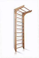Спортивная Шведская стенка деревянная с турником для дома, зала, квартиры 80х240 см натуральное дерево K1-240