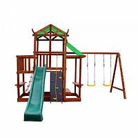 Детский игровой спортивный деревянный Комплекс площадка детская, горка, качель, песочница 700х150х300 см