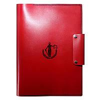 Кожаная папка - портфель для документов Anchor Stuff Подарок Адвокату А4 Красная
