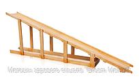 Зимняя Деревянная горка для детей для игровых комплексов на открытых уличных площадках длина 4.5м высота 150см