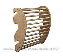 Тренажер для спины съемный из дерева на Шведскую стенку и Спортуголок, для детей и взрослых, нагрузка 100 кг