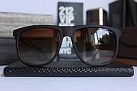Брендовые мужские солнцезащитные очки Emporio Armani (черные), фото 1
