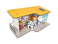 """Кукольный Домик для кукол ЛОЛ """"Пляжный мини"""" с мебелью и текстилем 40х20х18 см (2401)"""