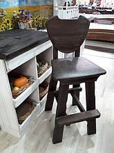 Барний стілець в стилі кантрі з масиву сосни зі старінням (120×51×50.5 см)