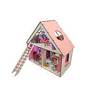"""Кукольный домик для кукол ЛОЛ """"LITTLE FUN"""" c мебелью, текстилем, лестницей и шторками 40х20х40 см (2110)"""