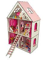"""Кукольный Домик для кукол ЛОЛ с мебелью, текстилем, обоями и лестницей """"LITTLE FUN maxi"""" 40х20х62 см (2106)"""
