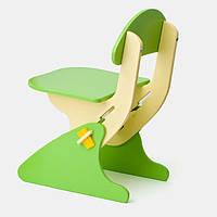 Детский Стул регулируемый по высоте для стола и парты растущий, для ребенка от 2 года до 7 лет green