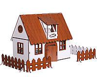 """Кукольный Домик для кукол ЛОЛ """"Сельский"""" с мебелью, текстилем и светом 30х19х26 см (2201)"""