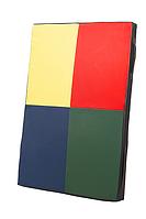 Гимнастический компактный спортивный Мат Мозаика для зала, спортивного уголка дома кожвинил 120х80х8см
