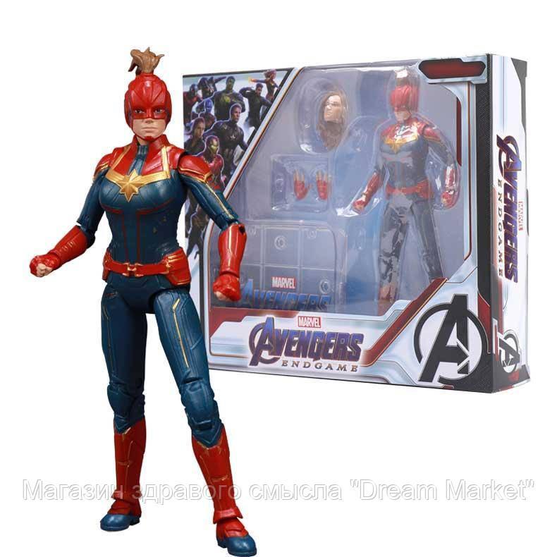 Игровая Коллекционная Фигурка Капитан Марвел Мстители Финал, 18 см - Captain Marvel, Avengers Endgame, Marvel