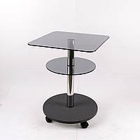Стол журнальный стекло квадратный Commus Bravo Light 400 Kv6 gray-gray-chr50