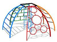 Детский спортивный игровой комплекс для игр на открытом воздухе рукоход сфера Шесть элементов 315х315х619 см