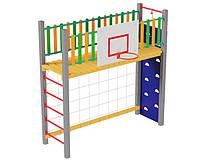 Детский спортивный игровой комплекс площадка для игр на открытом воздухе спортивная зона Ты лучший 300х100х101 см