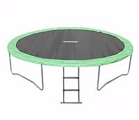 Спортивно-игровой водостойкий батут с лестницей для детей и взрослых до 180 кг для дома и улицы 457х88 см