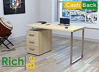 Офисный компьютерный стол L-27 MAX Loft design Дуб Борас