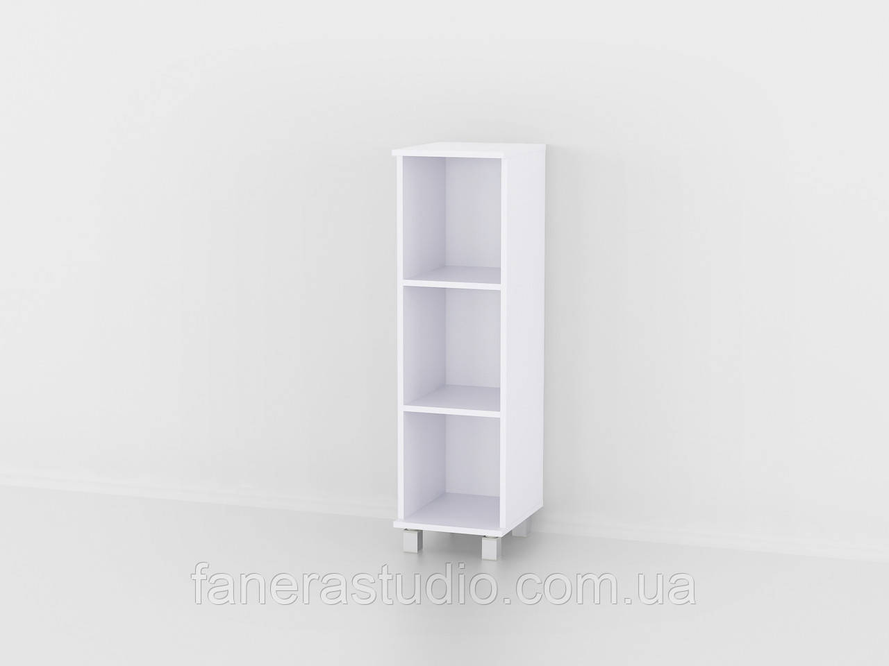 Полиця для книг, стелаж для дому з задньою стінкою три полиці