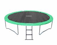 Спортивно-Игровой Водостойкий Батут с лестницей для детей и взрослых до 180 кг для дома и улицы 366х88 см