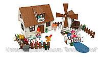"""Кукольный Домик для кукол ЛОЛ LOL """"Сельский + мельница"""" с мебелью, текстилем и светом 30х19х26 см (2202)"""